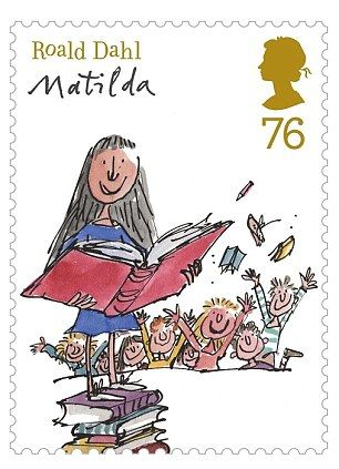 Roald Dahl's best-loved novels celebrated with new set of stamps