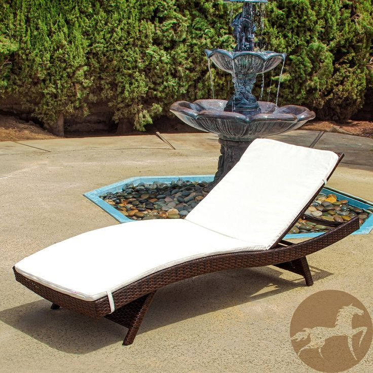 Toscana Outdoor Brown Wicker Adjustable Chaise Lounge With Cushion By  Christopher Knight Home By Christopher Knight Home