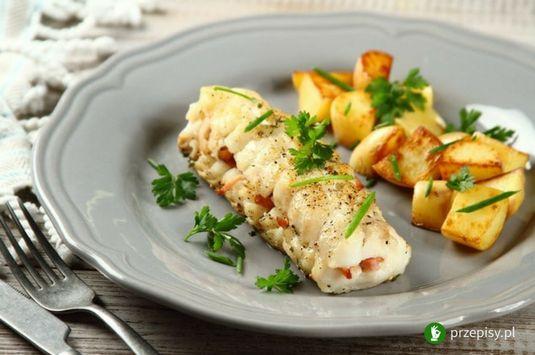 Polędwiczka z dorsza z ziemniakami i boczkiem #dinner #fish #cooking