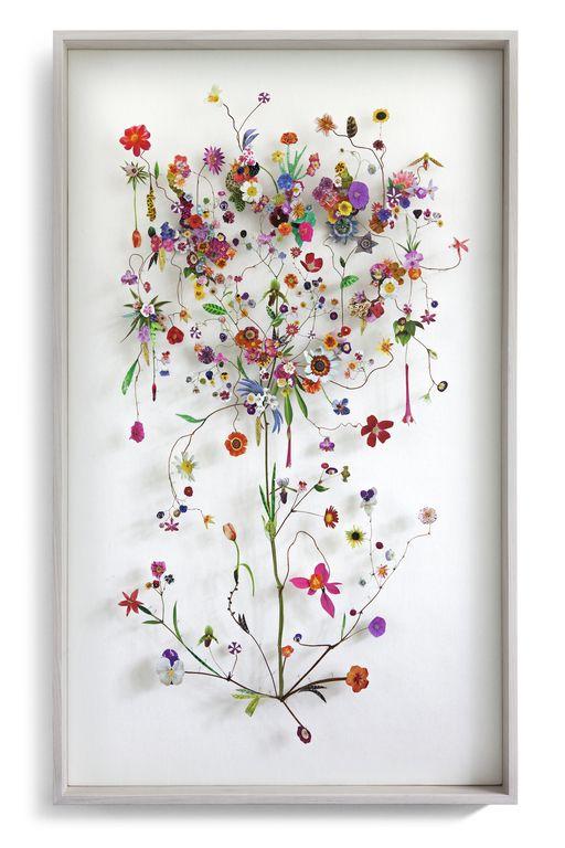 Flower construction #78 (w:60 h:100 d:6.5 cm)