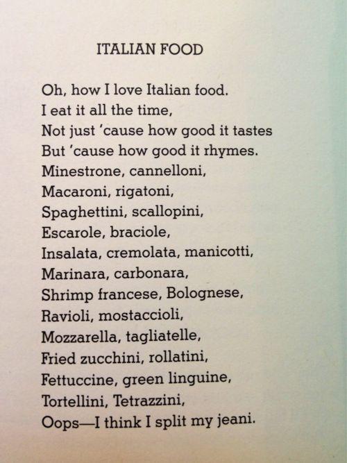 Shel Silverstein poems make me smile. :)