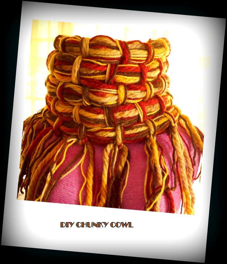 DIY chunky cowl - Chraats.gr