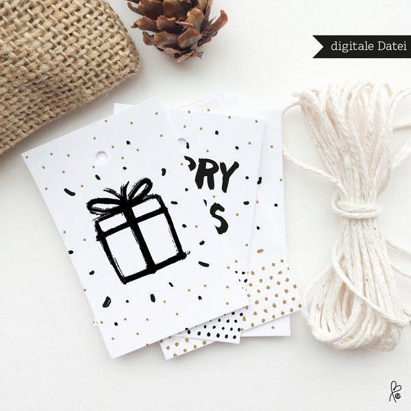 Geschenkanhänger - 3x Geschenkanhänger / Weihnachten / PRINTABLE - ein…