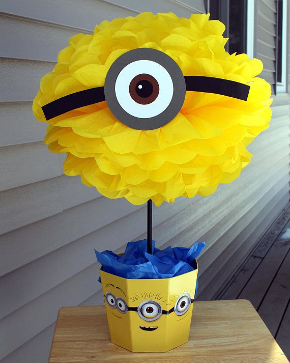 minion minions centerpiece kit despicable me birthday party in 2019 rh pinterest com