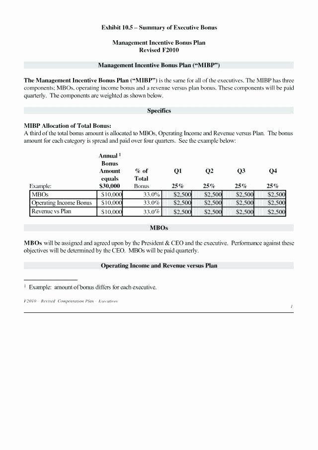 30 Profit Sharing Bonus Plan Template In 2020 Proposal Templates