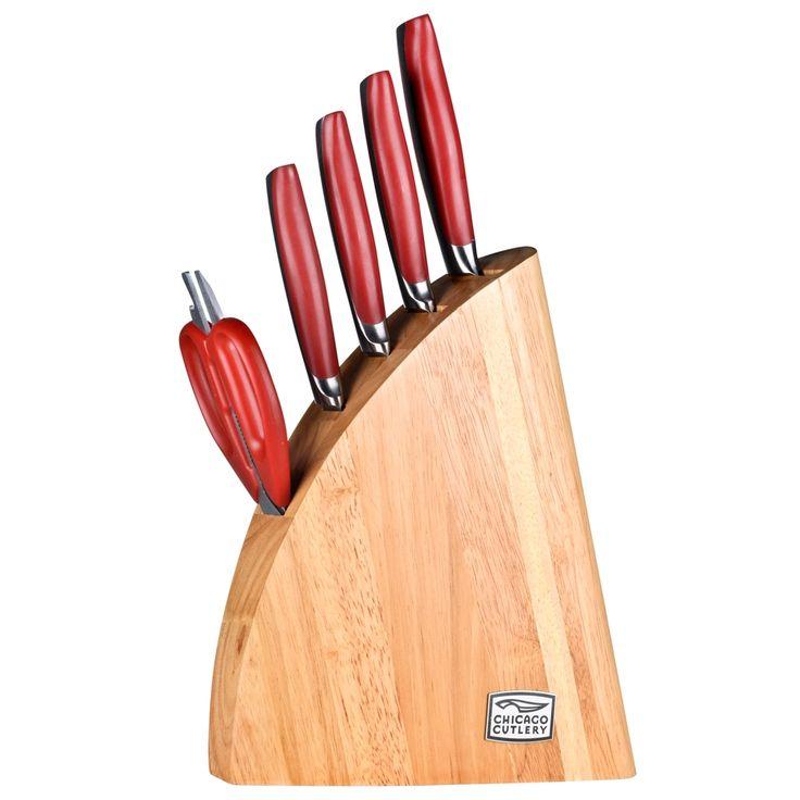Set de cuchillos Chicago Cutlery Cayenne 6 piezas  Hechos con el acero que se utiliza para la fabricación de los productos Chicago Cutlery, contiene carbón que le da mayor vida a la hoja y cromo que le da resistencia al uso rudo. Además, estos cuchillos no se oxidan ni se manchan. *Hasta agotar existencias. Walmart.com.mx, Hacemos Clic!