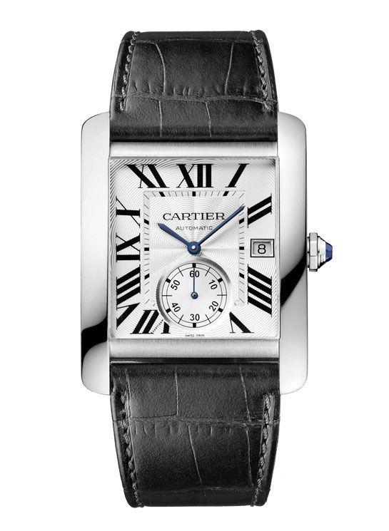 Montres homme Cartier Tank MC http://www.vogue.fr/mariage/bijoux/diaporama/montres-au-masculin-homme-mariage/16313/image/881930#!montres-homme-mariage-cartier-tank-mc