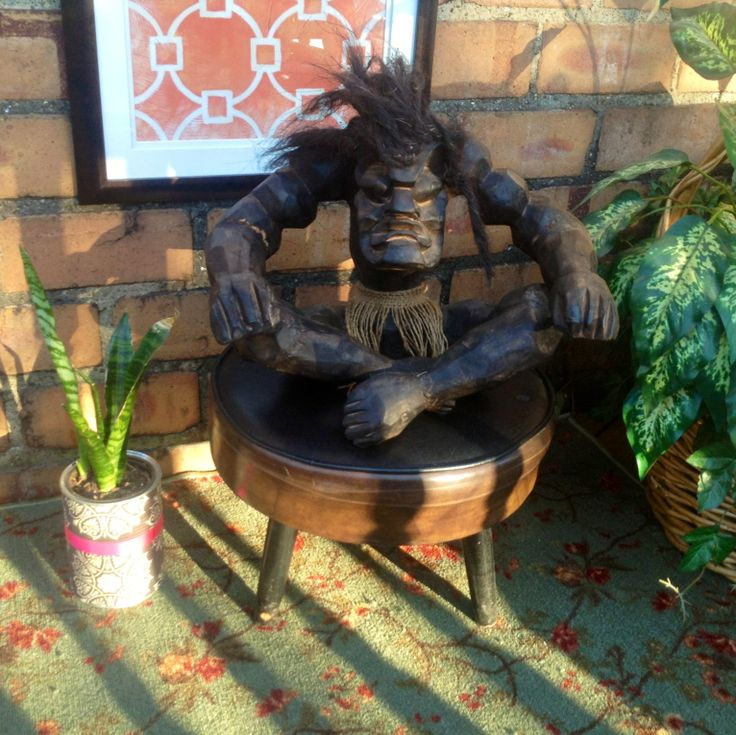 Wood Carved African Voodoo Medicine Man Statue..buy now ...