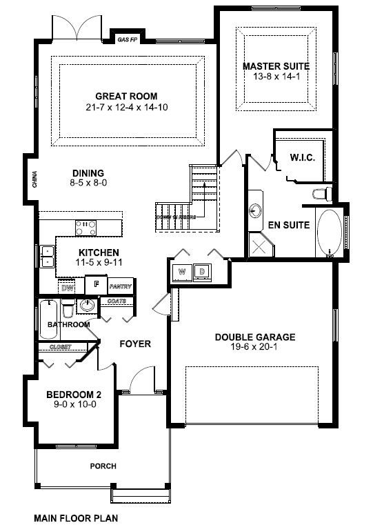 for Craftsman floor plans with basement