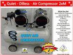 Quiet Oilless (Oil less) Air Compressor 2XM