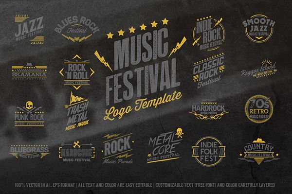 Music Festival Logo Template on Behance