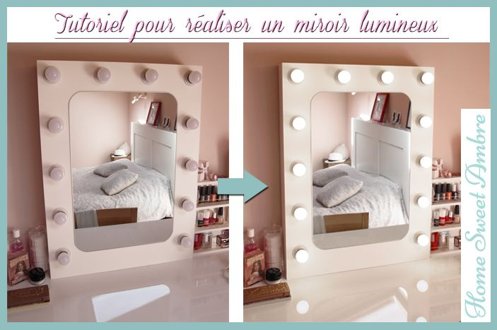 les 25 meilleures id es de la cat gorie miroir lumineux sur pinterest miroir bois flott. Black Bedroom Furniture Sets. Home Design Ideas