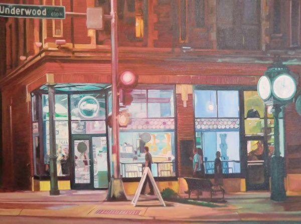 On the Corner by Katrina MethotSwanson  ~ 40 x 30