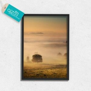 Plakat w ramie Mglista polana na ścianę 50x70cm