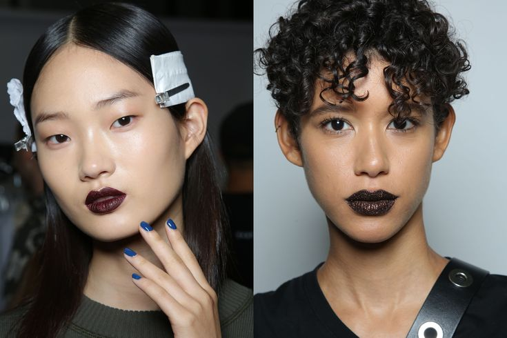 Every Makeup Look You Need to See From New York Fashion Week Spring 2017 | DKNY - The Vibe: The New Minimalism