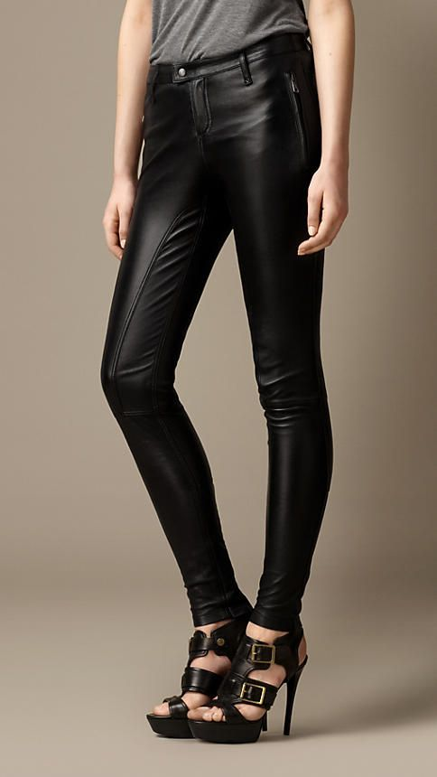 Burberry Brit Leather Skinny Fit Trousers
