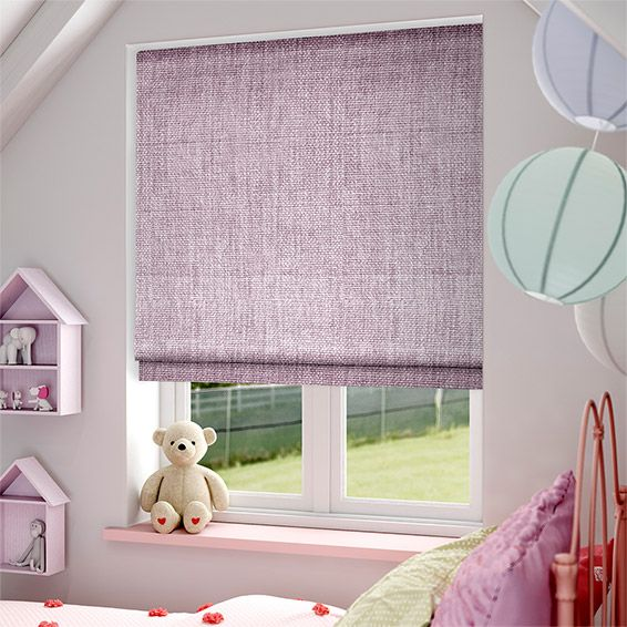 Eternity Linen Lilac Roman Blind From Blinds 2go