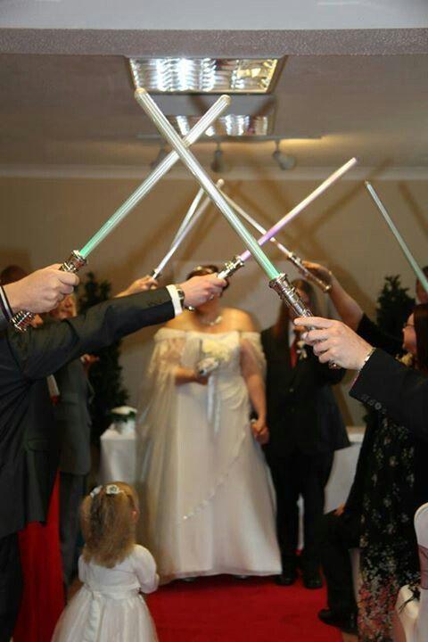 Light saber guard of honour