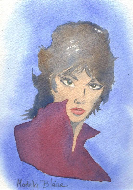 Portrait of Peter O'Donnell's character - Modesty Blaise