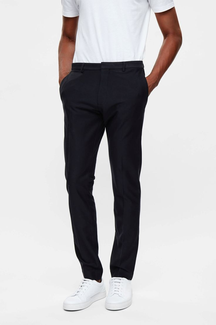 COS image 7 of Slim-fit tailored trousers in Navy