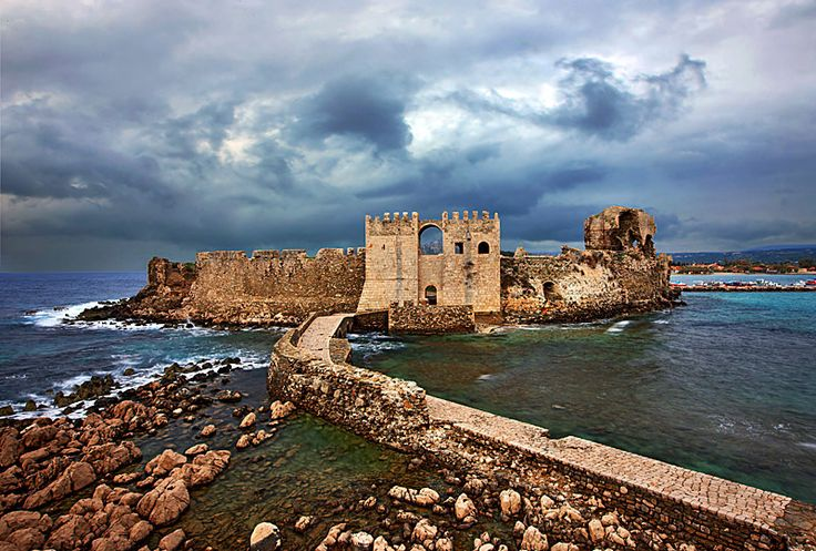 The Castle of Methoni - Methoni, Messinia.During the 4rth century B.C. Methoni was fortified with more elaborately and continued to remain autonomous to the imperial roman years, when it enjoyed the favour of some emperors. During the Byzantiine years it continued to remain a remarkable harbour and one of the most important cities of the Peloponnese, home of the bishop.