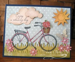 Tracie's Crafty Creations Bicycle Card