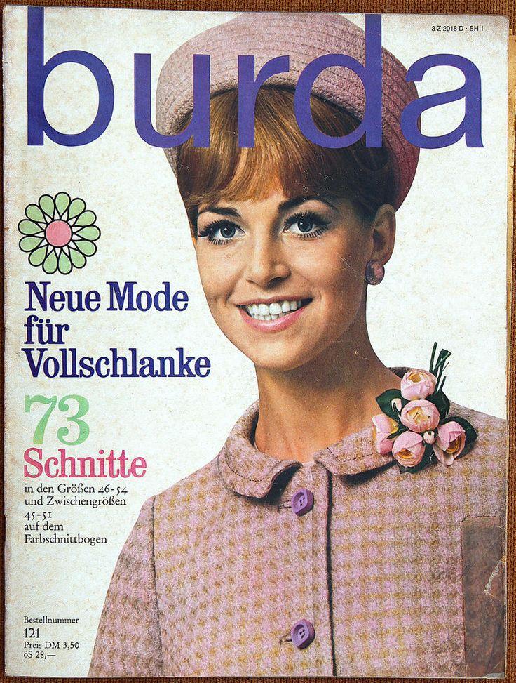 Burda Mode für Vollschlanke 60er/70er Jahre mit 2 Schnittbogen Modezeitschrift