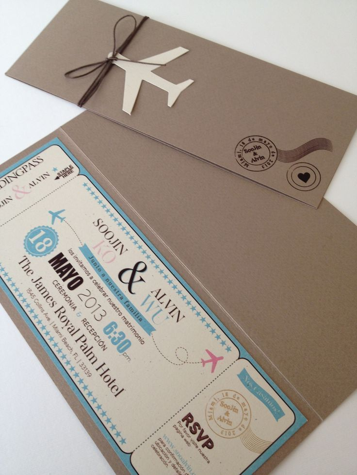 wedding invitation boarding card - Cerca con Google