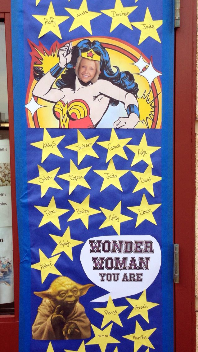 Teacher Appreciation Week Door Decoration Wonder Woman