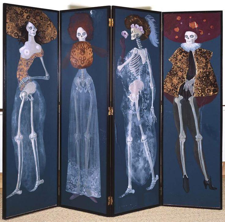Leonor Fini skeleton divider screen