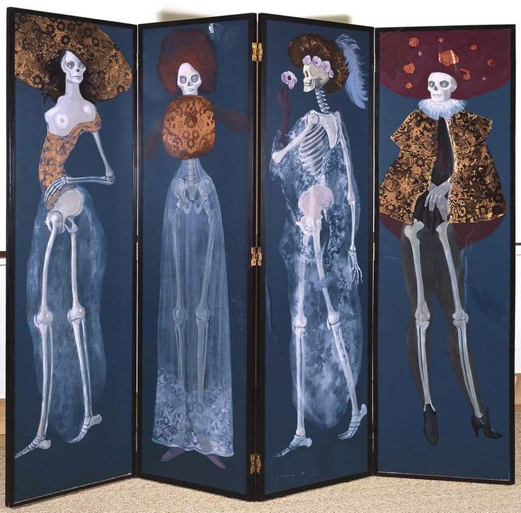 Leonor Fini skeleton divider screen
