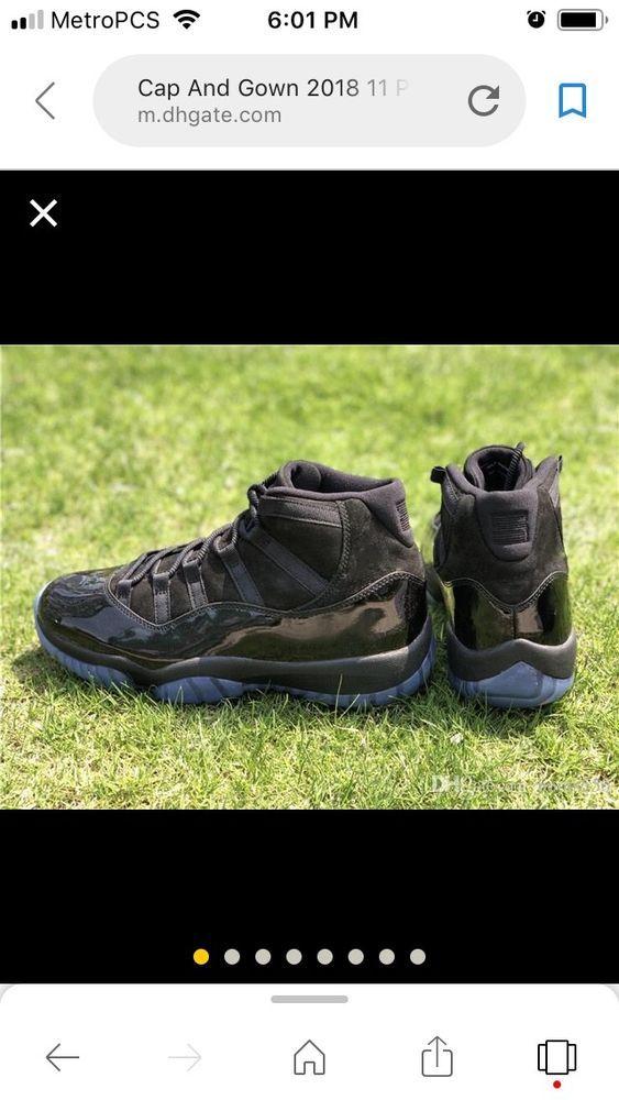 Nike Air Jordan Retro 11s Cap And Gown 7 13 Fashion Clothing