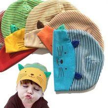 1 PCS New Encantador Bonito Kawaii Cap Da Criança Do Bebê de Algodão Macio gato Chapéu Tarja Chapéu Meninos Meninas Infantil Crianças Recém-nascidas Beanies Acessórios(China (Mainland))