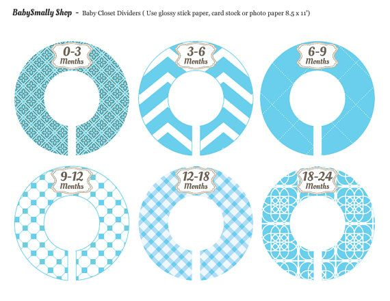 Baby Closet Divider Stickers Printable Closet by Babysmally, $4.99