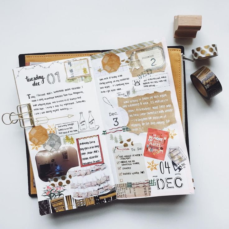 """""""I love the concept of #DecemberDaily in the pocket scrapbook community, so I'm resolving to make daily entries in my visual journal for the holidays.…"""""""