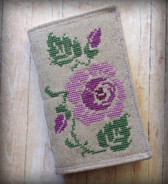 Cross Stitched Journal. Fabric Sketchbook. by AStoryFullOfJournals