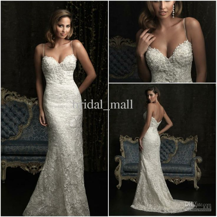 Wholesale Luxurious exquisite beaded Sexy open back lace wedding dresses mermaid ivory wedding gown BM833, Free shipping, $197.67-252.06/Piece | DHgate