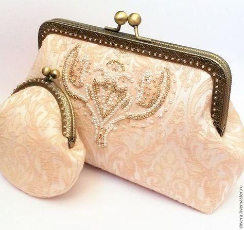 Шьем нежный кремовый клатч для невесты - Ярмарка Мастеров - ручная работа, handmade