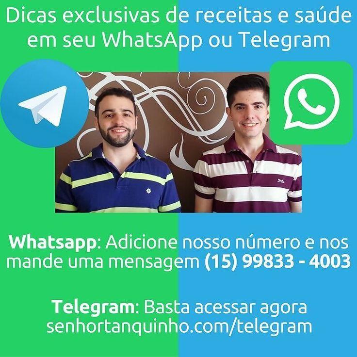 Você quer receber nossas dicas exclusivas - de graça - no seu celular? . É só seguir os passos da figura: . WhatsApp: - Salve este número nos seus contatos (15) 99833 - 4003; - Envie uma mensagem com seu nome. . Telegram: - Acesse http://ift.tt/2fNF149 . Você prefere qual dos dois serviços?? . . #whatsapp #telegram #paleobrasil #primal #lowcarb #lchf #semgluten #semlactose #cetogenica #keto #atkins #dieta #emagrecer #vidalowcarb #paleobr #comidadeverdade #saude #fit #fitness #estilodevida…
