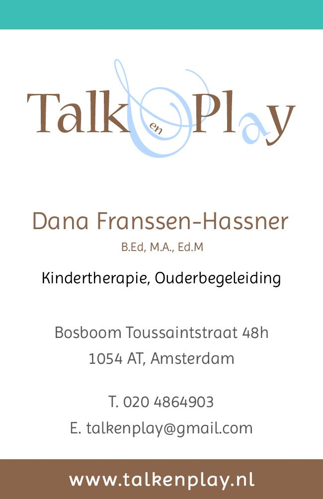 Talk en Play Business card (back)