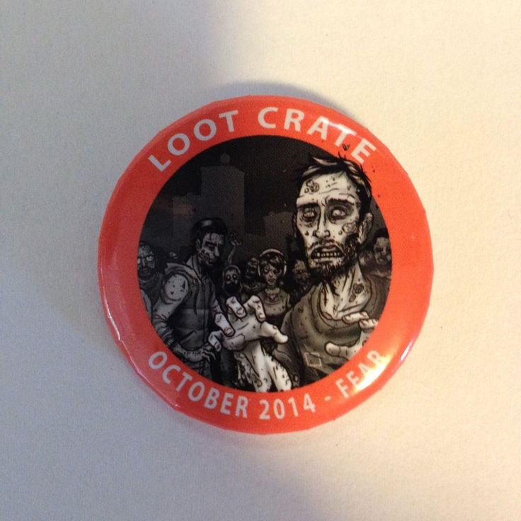 LootCrate Exclusive Button October 2014 Fear 1.5 in. Zombies pinback Rare pin