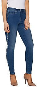 Martha Stewart As Is Regular Faux Pearl Ankle Jeans