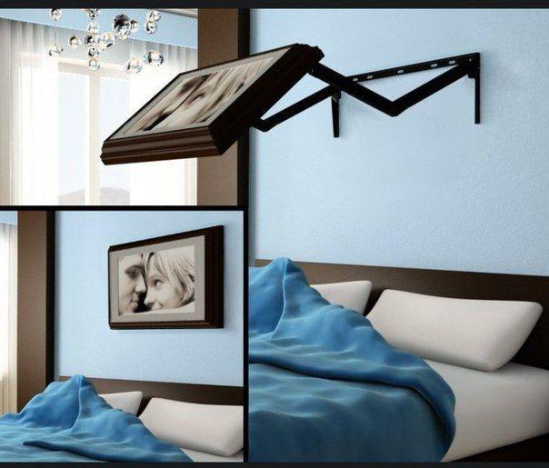 Скрытый телевизор в спальни.