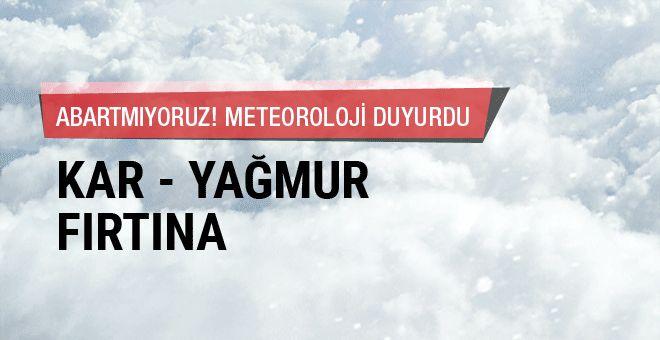 Son hava durumu raporunu yayınlayan Meteoroloji Genel Müdürlüğü alarm verdi. Peki 23 Nisan'da hava durumu nasıl? Detaylar haberdesifre.com'da