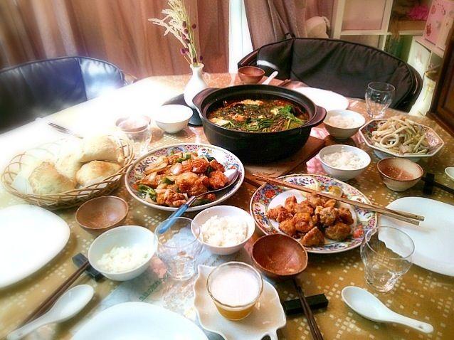 揚げない唐揚げ、揚げない唐揚げ黒酢あんかけ、スンドゥブ、いかとセロリの中華炒め - 4件のもぐもぐ - お料理教室 by moyuka87