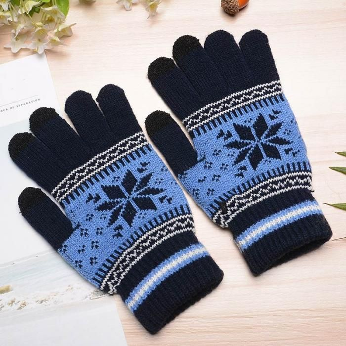 Fashion Winter Men Women Knitted Gloves Keep Warm Fitness Touchable Screen Glove For Mobile Phone iPad Tablet FS99