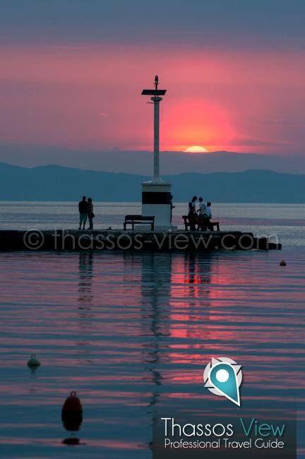 Sunset Limenas Thassos Island Greece