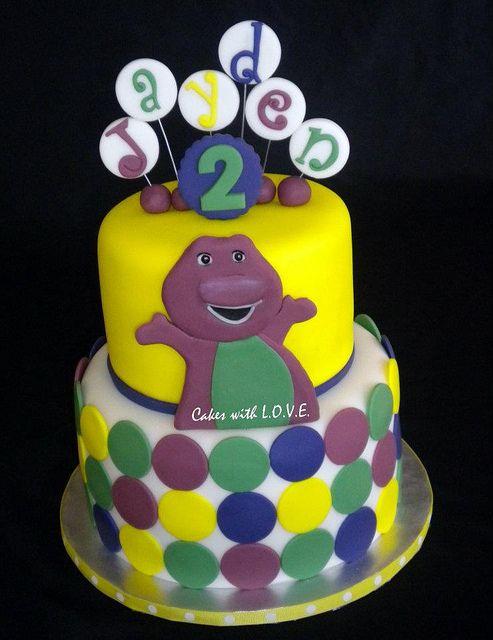Barney Cake :) by Cakes with L.O.V.E., via Flickr