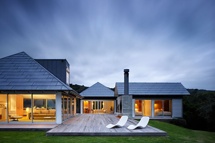 large outdoor decking area coastal house design