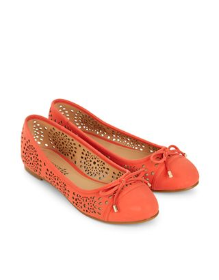 Lucy Laser Cut Ballerina Shoes